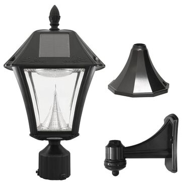 Baytown II Solar Lamp Post with EZ Anchor, Black Finish