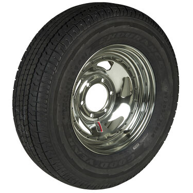 Goodyear Endurance ST225/75 R 15 Radial Trailer Tire, 6-Lug Chrome Directional R
