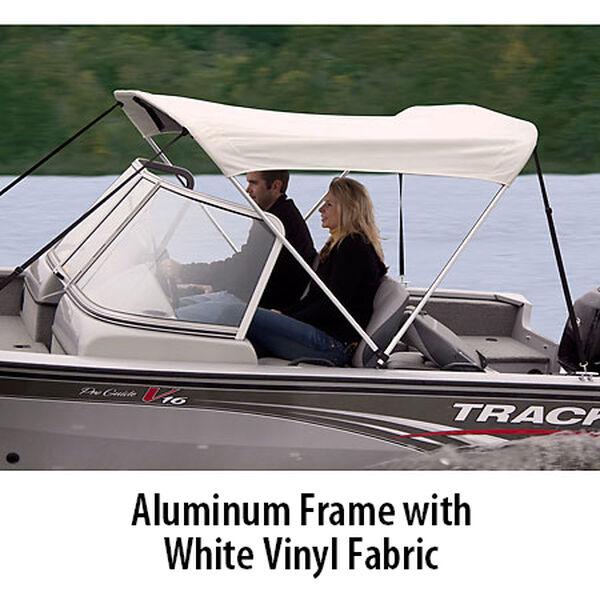 "Shademate White Vinyl 2-Bow Bimini Top, 5'6""L x 42""H, 54""-60"" Wide"