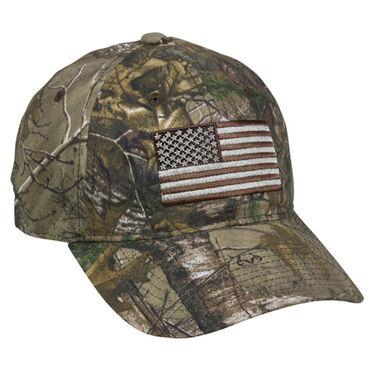 Realtree Xtra Distressed USA Flag Cap
