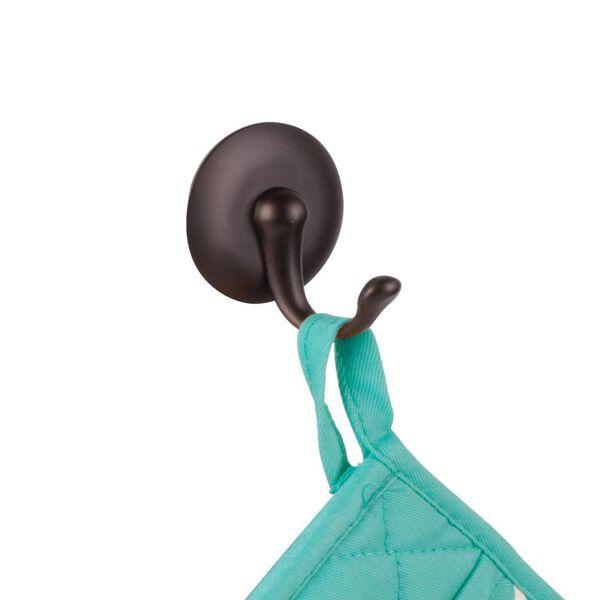 iDesign AFFIXX Peel and Stick Adhesive Storage Hook Set Bronze Finish