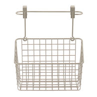 Over Cabinet Towel Bar & Basket, Satin Nickel