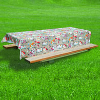 "RV Diner Tablecloth, 82"" x 54"""