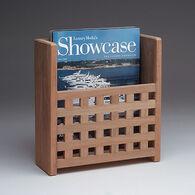 SeaForce Teak Grate Front Magazine Rack