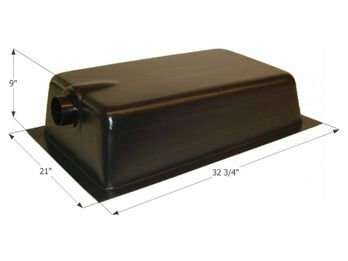 Holding Tank Center End Drain HT620AED, 17 Gallon
