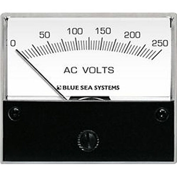 Blue Sea AC Analog Voltmeter, 0-250V