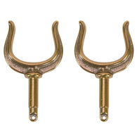 Ribbed Oar Lock Horns, bronze