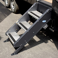 "MORryde StepAbove Folding 3-Step RV Steps, 26""-28"" Door Width"