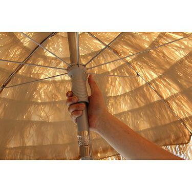 Palapa Tiki Patio Umbrella 6 ft - Whiskey Brown