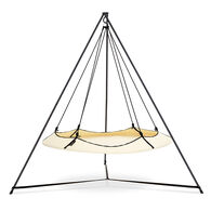 Hangout Pod and Stand Hammock Set, Cream and Black