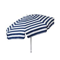 Italian 6 ft Patio Umbrella Acrylic Stripes Navy and White