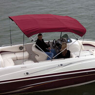 Shademate Sunbrella Stainless 4-Bow Bimini Top 8'L x 42''H 67''-72'' Wide