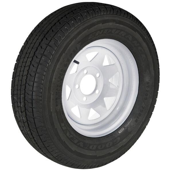 Goodyear Endurance ST205/75 R 15 Radial Trailer Tire, 5-Lug White Spoke Rim