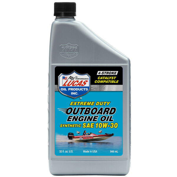 Lucas Oil Synthetic SAE 10W-30 Outboard Engine Oil, Quart