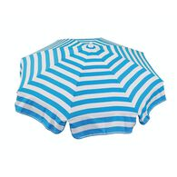 Italian 6 ft Patio Umbrella Acrylic Stripes Turquoise and White