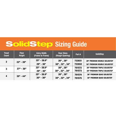 """SolidStep™ RV Steps, 26"""" Triple Step"""