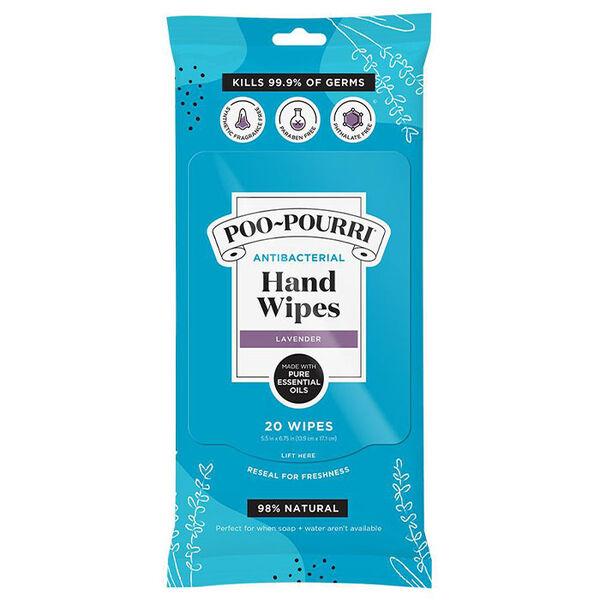 Poo-Pourri Antibacterial Hand Wipes, Lavendar, 20 Wipes