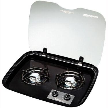 2 Burner Drop-In Flush Mount Glass Cover