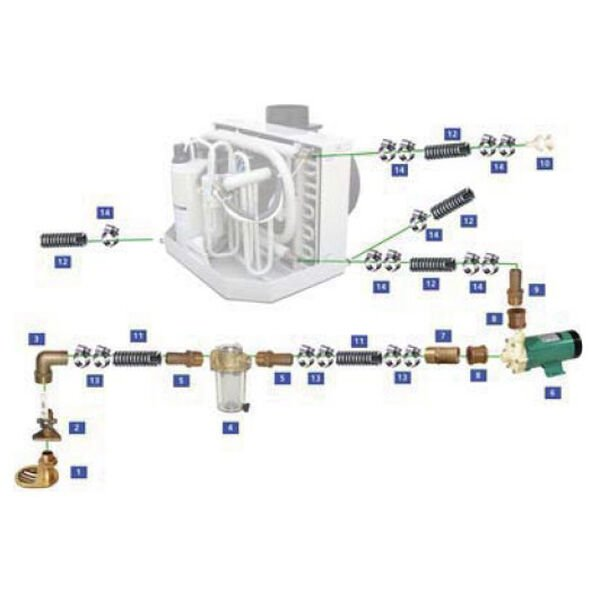 Webasto 115V Seawater Kit For 9,000 BTU Units