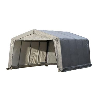 Peak Style Shelter 12 x 16 x 8 Gray Cover