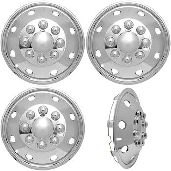 """ABS Wheel Covers, 16"""", Set of 4"""