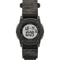 Timex Kid's Digital 35mm Watch, Green Camo with Fastwrap Strap