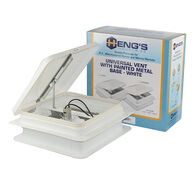 Heng's Replacement Roof Vent with 12-Volt Fan, White Lid w/White Metal Base