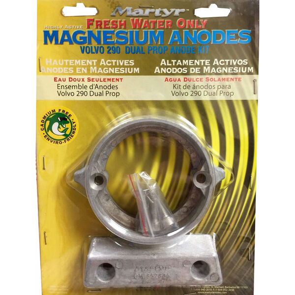 Martyr Volvo Penta Anode Kit for 290 HP Dual Prop Engines - Magnesium