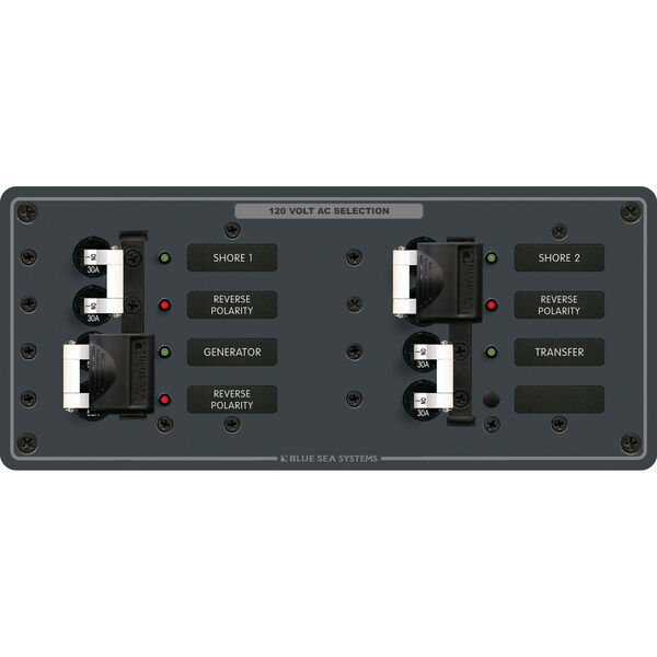 Blue Sea Systems AC 3 Sources Horizontal Panel