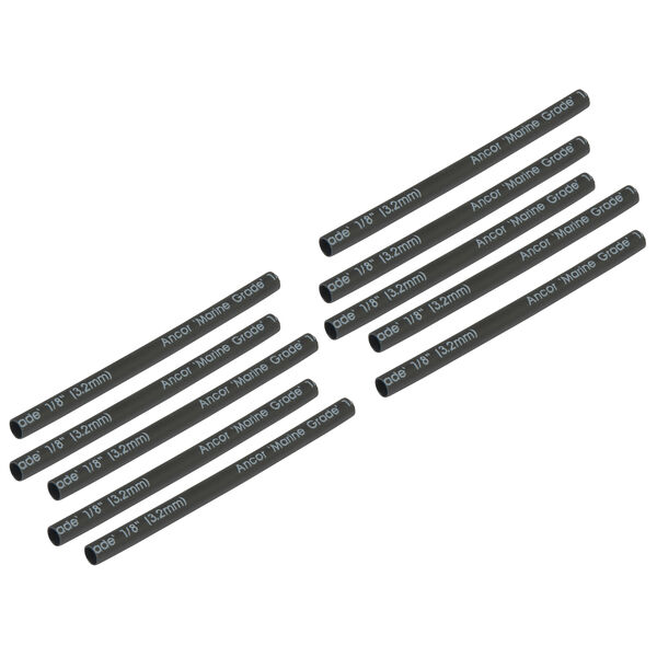 "Ancor Adhesive-Lined Heat Shrink Tubing, <18 AWG, 6"" L, 10-Pk., Black"
