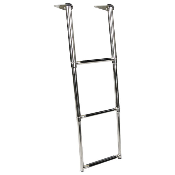 Overton's Top Mounted 3 Step Stainless Steel Folding Swim Platform Ladder