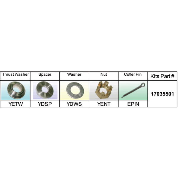 Solas 17035501 Propeller Kit for Yamaha 100-130 HP