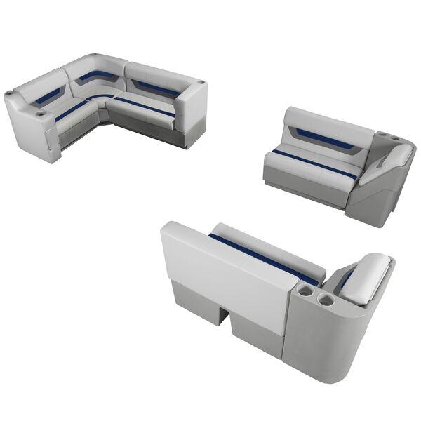 Designer Pontoon Furniture - Complete Boat Package, Sky Gray/Navy