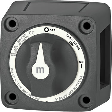 Blue Sea Systems m-Series Mini On/Off Battery Switch (with Knob)
