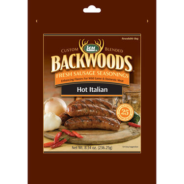 LEM Backwoods Hot Italian Fresh Sausage Seasoning, 25 lbs.