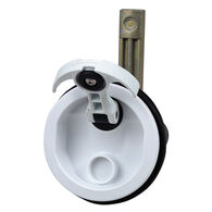 Perko Flush Latch With Offset Cam Bar, White