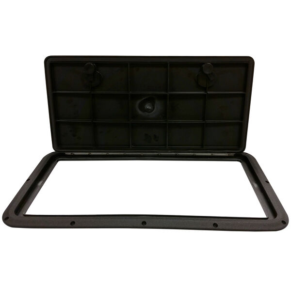 "DPI Marine DPF Black Flush Series Hatch Door, 13"" x 24"" O.D. frame"