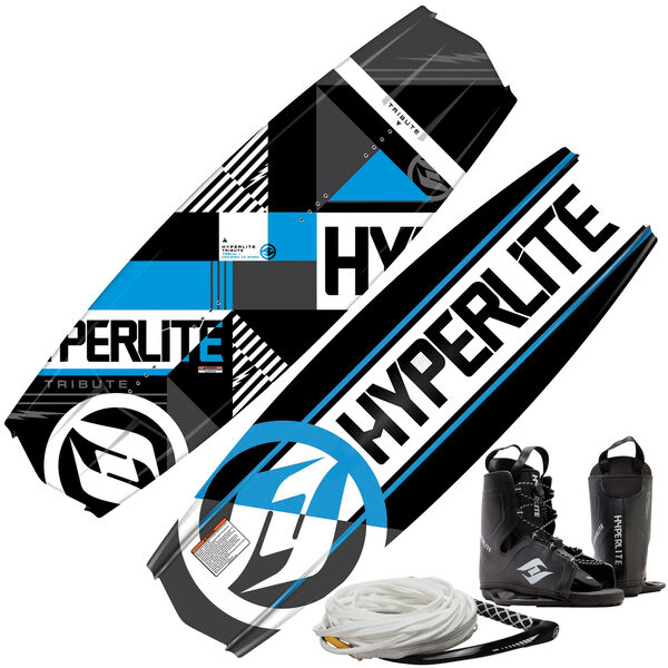 Hyperlite Tribute Wakeboard With Frequency Bindings And Rope