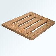 "SeaForce Teak Swim Platform, 24""W (Back) x 22""W (Front) x 18""D"