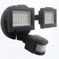 Nature Power Solar Motion-Activated 120 LED Dual Head Security Light