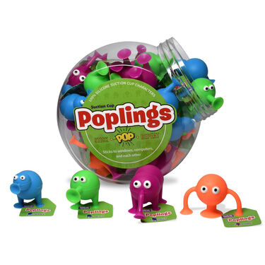 Poplings Suction Cup Toys, 36 pieces