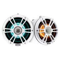 "FUSION 7.7"" Wake Tower Speakers w/CRGBW LED Lighting - White"