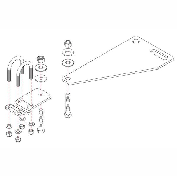 Roadmaster Reflex Steering Stabilizer Mounting Bracket, RBK6