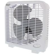 "Comfort Zone 9"" Box Fan, White"