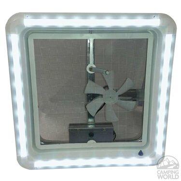 RV Chandelier LED Roof Vent Trim Ring- Warm White