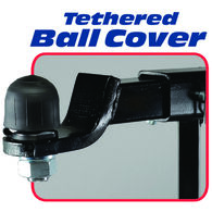Fastway Tethered Hitch Ball Cover, 2""