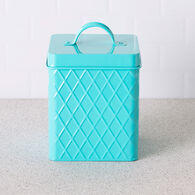 Home Basics Trellis Collection Small Tin Canister