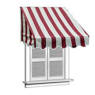 ALEKO 4x2 Multistripe Red Window Awning Door Canopy 4-Foot Decorator Awning
