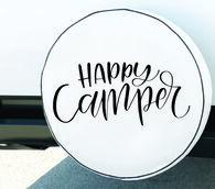 """Happy Camper"" Spare Tire Cover, Fits 27"" Dia. Tire"