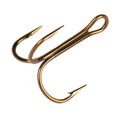 Mustad Round Bend Treble Hook
